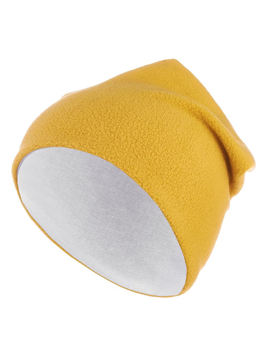 Флисовая шапка «Горчичная» Bambinizon